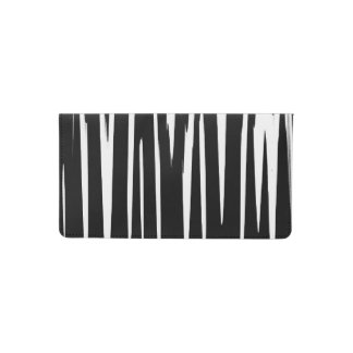 EBONY & IVORY in the first (zebra stripe art) ~ Checkbook Cover