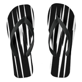 EBONY & IVORY in the first (zebra stripe art) ~ Flip Flops