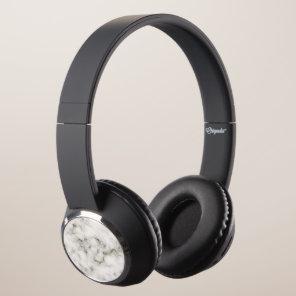 Ebony Ivory Marble Black White Marble Stone Headphones