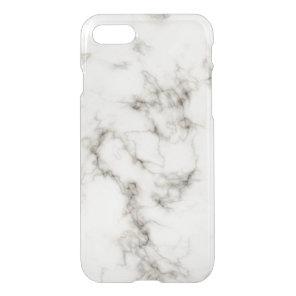 Ebony Ivory Marble Black White Marble Stone iPhone 8/7 Case