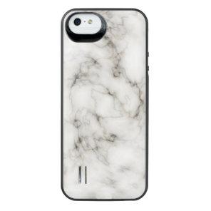 Ebony Ivory Marble Black White Marble Stone iPhone SE/5/5s Battery Case