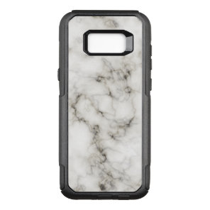 Ebony Ivory Marble Black White Marble Stone OtterBox Commuter Samsung Galaxy S8  Case