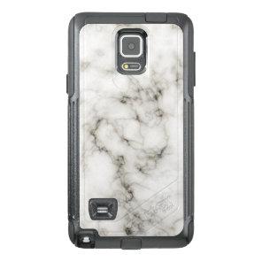 Ebony Ivory Marble Black White Marble Stone OtterBox Samsung Note 4 Case