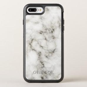 Ebony Ivory Marble Black White Marble Stone OtterBox Symmetry iPhone 8 Plus/7 Plus Case