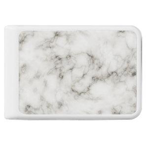 Ebony Ivory Marble Black White Marble Stone Power Bank