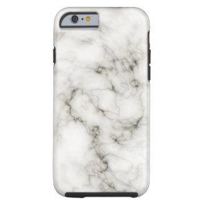 Ebony Ivory Marble Black White Marble Stone Tough iPhone 6 Case
