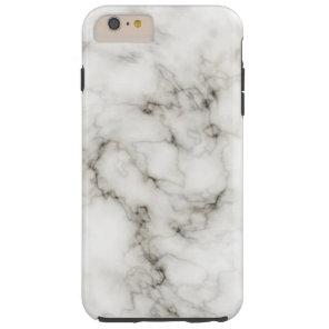 Ebony Ivory Marble Black White Marble Stone Tough iPhone 6 Plus Case