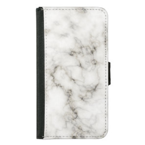 Ebony Ivory Marble Black White Marble Stone Wallet Phone Case For Samsung Galaxy S5
