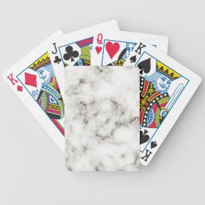 Ebony Ivory marble coasters Bicycle Playing Cards
