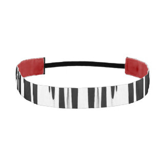 EBONY & IVORY (zebra stripe abstract art) ~ Athletic Headband