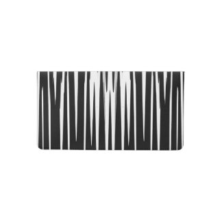 EBONY & IVORY (zebra stripe abstract art) ~ Checkbook Cover