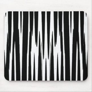 EBONY & IVORY (zebra stripe abstract art) ~ Mouse Pad