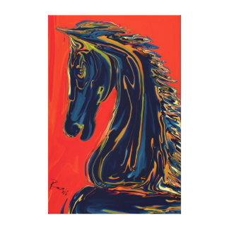 Ebony Knight Gallery Wrapped Canvas