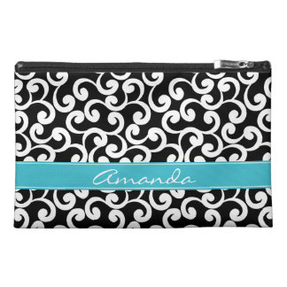 Ebony Monogrammed Elements Print Travel Accessory Bag