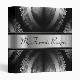 Ebony Smoke Recipe Book 3 Ring Binders