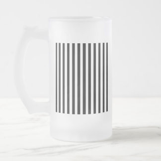 Ebony Snow Frosted Glass Beer Mug