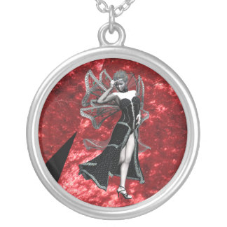 Ebony Sorceress Silver Plated Necklace