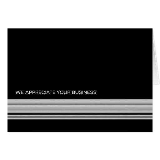 Ebony Stripes Business Thank You Card