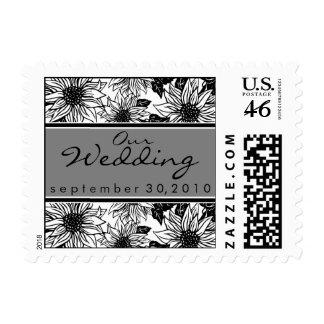 Ebony Sunflower Our Wedding Stamp