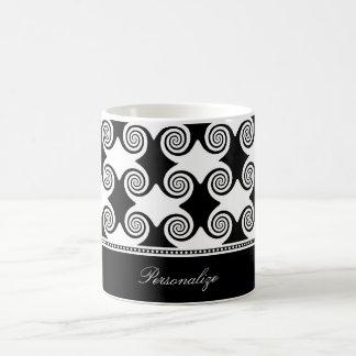 Ebony Swirls Coffee Mug