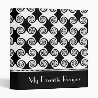 Ebony Swirls Recipe Book Vinyl Binders