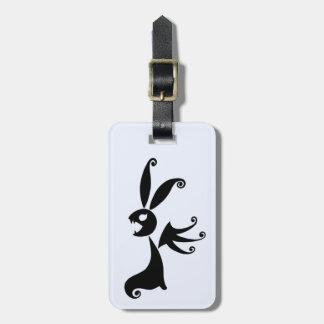Ebony the Shadow Rabbit Bag Tag