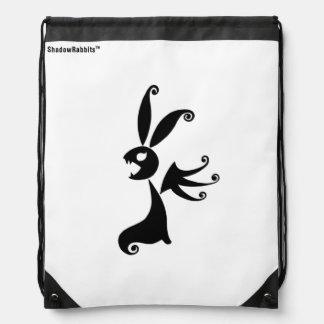 Ebony the Shadow Rabbit Drawstring Bag