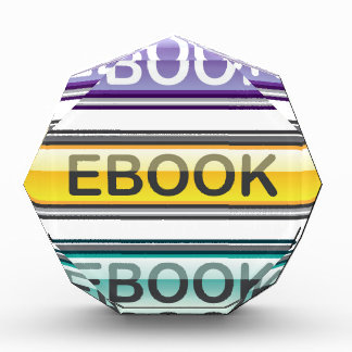Ebook Button download look Glossy Acrylic Award