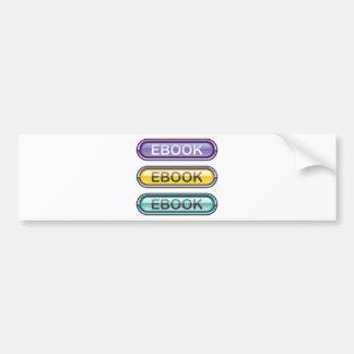 Ebook Button download look Glossy Bumper Sticker