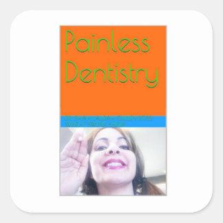 eBook de la odontología sin dolor/cubierta de Pegatina Cuadrada