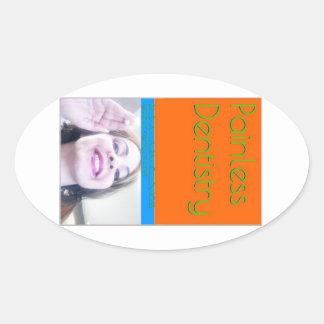 eBook de la odontología sin dolor/cubierta de Pegatina Ovalada