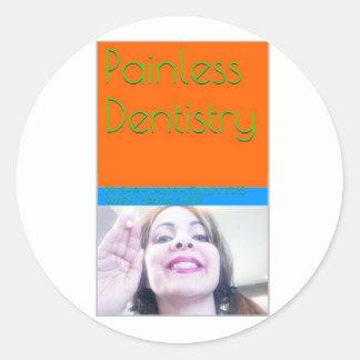 eBook de la odontología sin dolor/cubierta de Pegatina Redonda