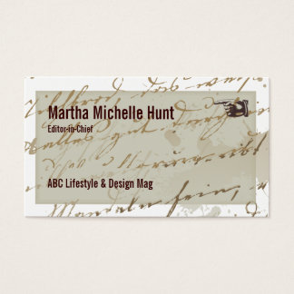 Ebook Magazine Writer Business Card