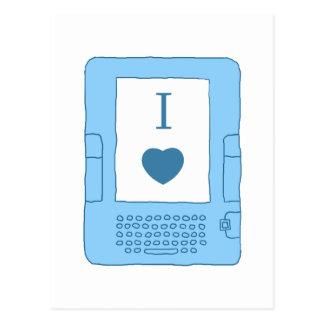 ebooks del corazón i (azules) tarjetas postales