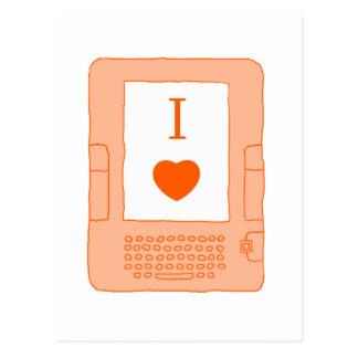 ebooks del corazón i (naranja) postal