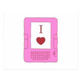 ebooks del corazón i (rosa) tarjeta postal