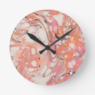 Ebru (Water Marble) Round Clock