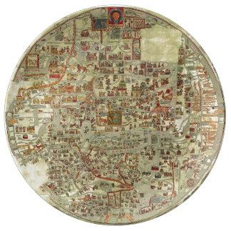 Ebstorf Map Porcelain Plate