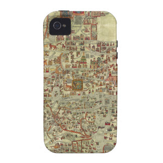 Ebstorfer Old World Map iPhone 4/4S Cases