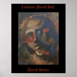 Ebullición de la sangre del litio (impresión) impresiones