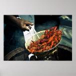 Ebullición de los cangrejos posters