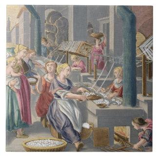 Ebullición de los capullos para destruir el Chrysa Azulejo Cuadrado Grande