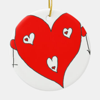 EBULLIENT HEART H F.png Ceramic Ornament