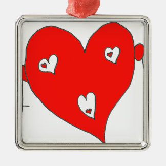 EBULLIENT HEART H F.png Metal Ornament