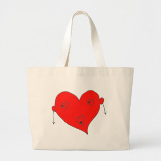 EBULLIENT HEART HOMMES.png Large Tote Bag