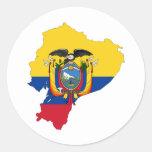EC de Ecuador Etiqueta Redonda