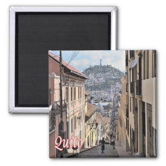 EC - Ecuador - Quito - Old Town 2 Inch Square Magnet