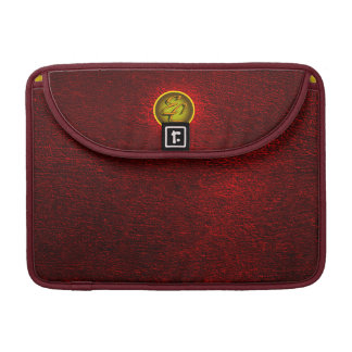 EC Red Concrete Creations Sleeve For MacBooks
