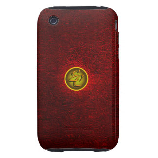EC Red Concrete Creations Tough iPhone 3 Covers