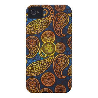EC Royal Blue Paisley Case-Mate iPhone 4 Case